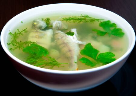 Soup from boiled fish