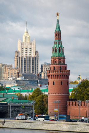 Tower of the Kremlin and the foreign Ministry building