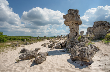 Pobiti Kamani: a desert-like rock phenomenon located on the north west Varna Province border in Bulgaria.
