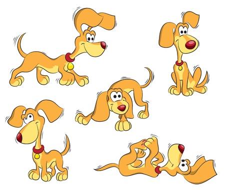 set di arancia cane divertente, isolato su bianco