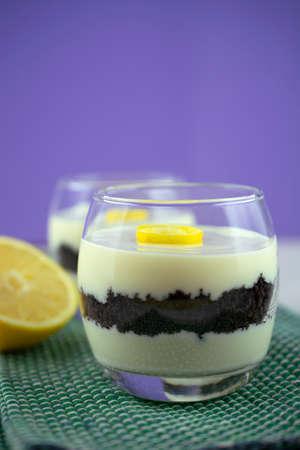 Sicilian lemon cream and cookies verrine
