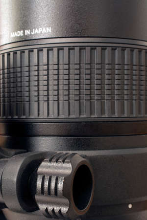 Camera zoom lens detail Archivio Fotografico