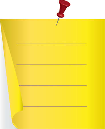 blank note Stock Vector - 8119742
