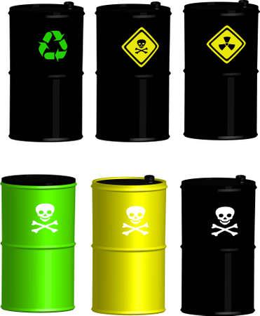 toxic barrels: peligro