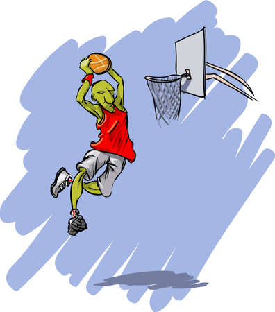 Sports - Basketball action Vector