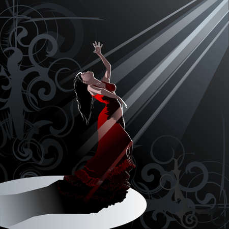 Dance- Flamenco Stock Vector - 8668237