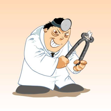 悪の歯科医  イラスト・ベクター素材