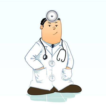 doc: Detailed Vector illustration of a doctor