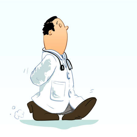 doctor examine: Detailed Vector illustration of a doctor