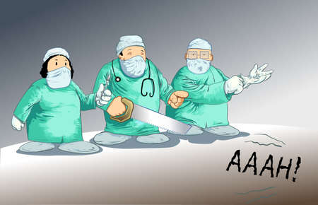 chirurg: Chirurg Toons-posing