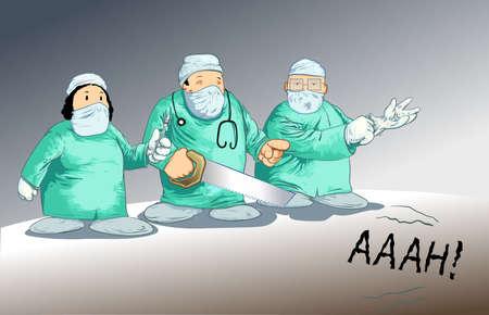 chirurgo: Chirurgo toons-posa