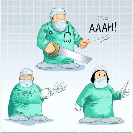 chirurgo: Chirurgo toons-pack Vettoriali
