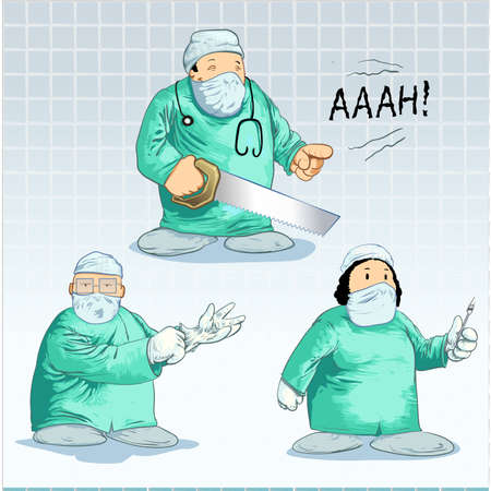 Surgeon toons- pack Stock Vector - 8668229