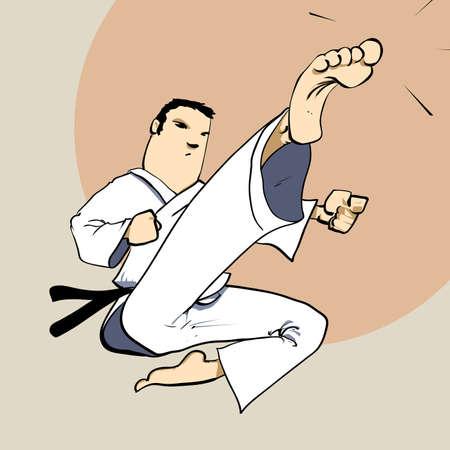 self training: Martial arts - karate power kick