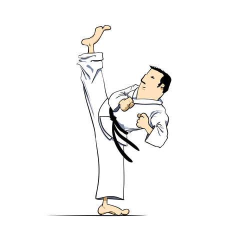self training: Martial arts - karate high kick