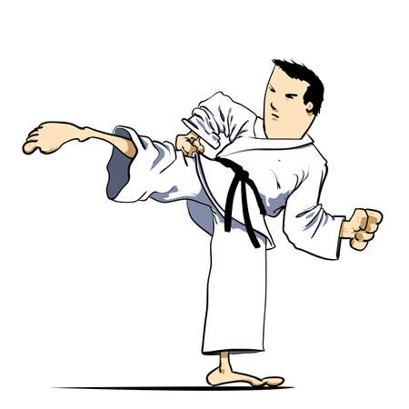 Martial arts - karate kick