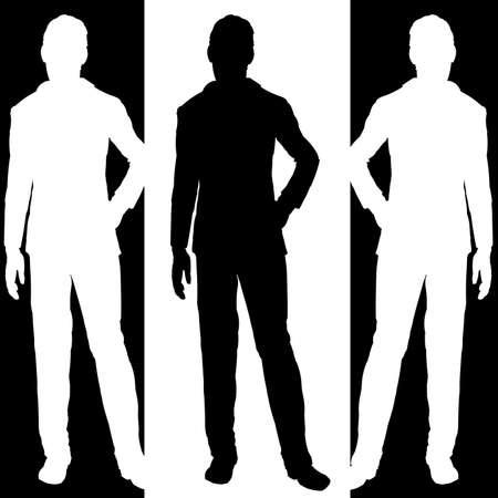 Business - man standing Vector