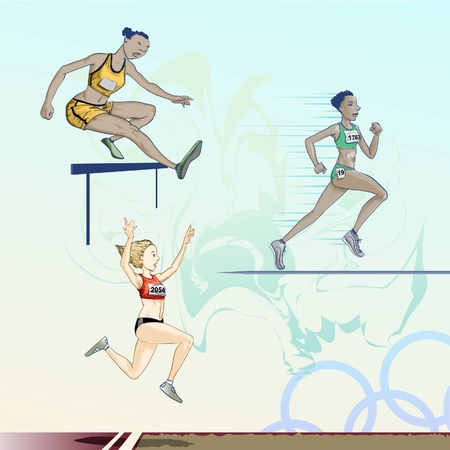 long jump: Sports - Olympic games - athletics pack Illustration