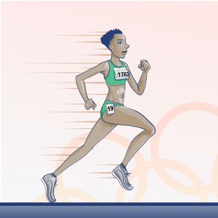 Sports - Olympic games - running Vector
