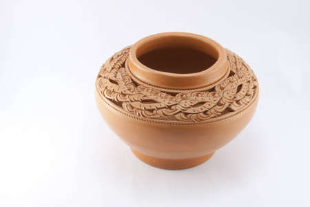 Ancient design of Thai pottery photo