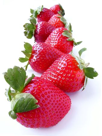 It is a lot of strawberry isolated on white Stock Photo