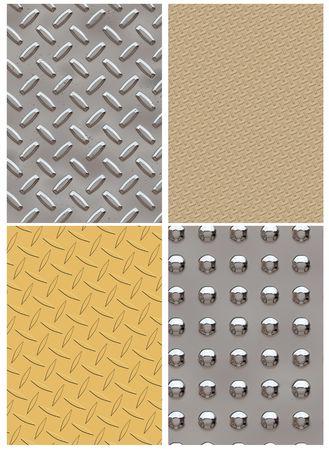 Computer generated hight resolution variation of diamond plates Stock Photo