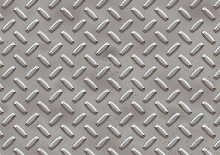 Computer generated hight resolution diamond plate background Stock Photo