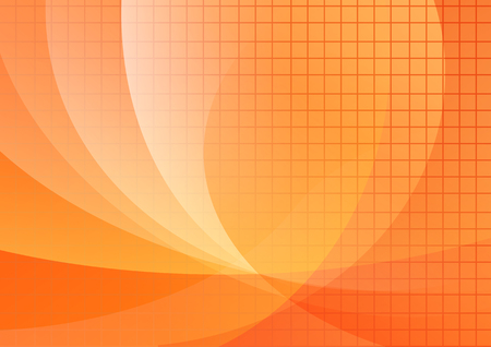 Orange backround witn waves and mesh