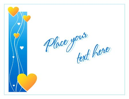 Blue greeting card with hearts for St. Valentine's day Stock Photo - 2048432