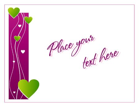 Violet greeting card with hearts for St. Valentine's day Stock Photo - 2048433