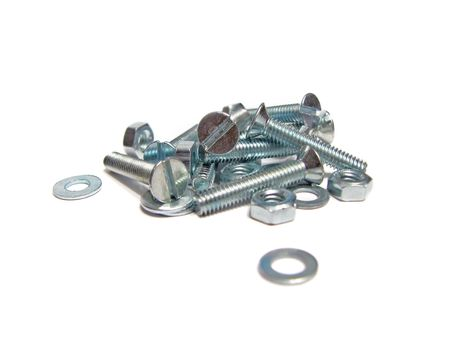 fastening objects: A lot of screws isolated on white