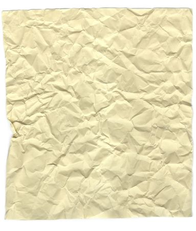 Crumpled paper sheet isolated on white background