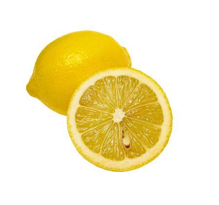 Lemons isolated on white background