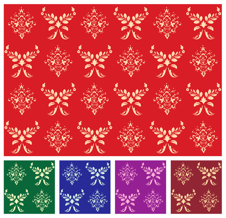 Vector classic pattern for design in many colors Stock Vector - 2517163