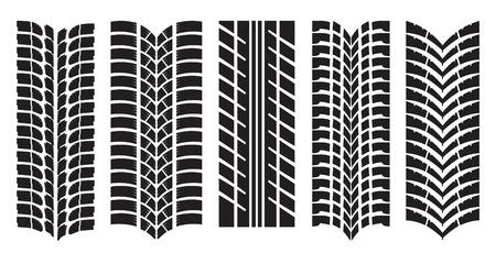 motricit�: Vector image de voiture de pneus
