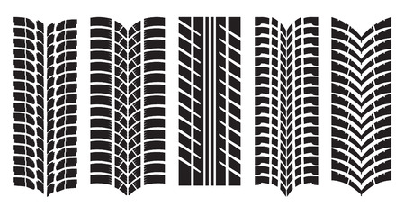 Vector image of car tyre prints