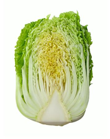 Chinese cabbage isolated on white background Stock Photo