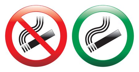 No smoking and smoking area signs photo