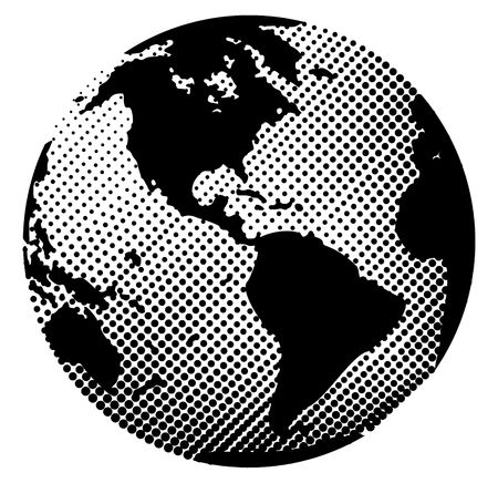 Halftone pattern - Earth, easy to change colors