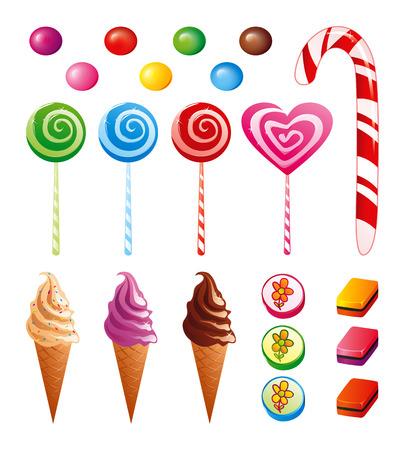 Zestaw Candy Ilustracje wektorowe