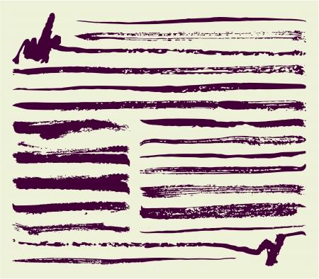 Brush ink strokes