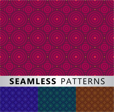 Four seamless patterns in different colors Vector