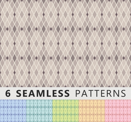 Seamless patterns in different colors
