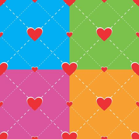 Hearts seamless pattern for Valentine Illustration