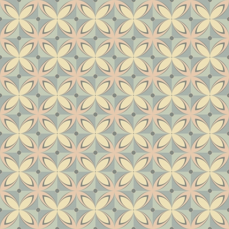 Geometric seamless retro pattern in pastel colors Stock Vector - 17006123