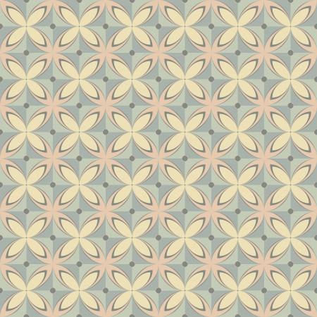 Geometric seamless retro pattern in pastel colors Stock Vector - 17006123