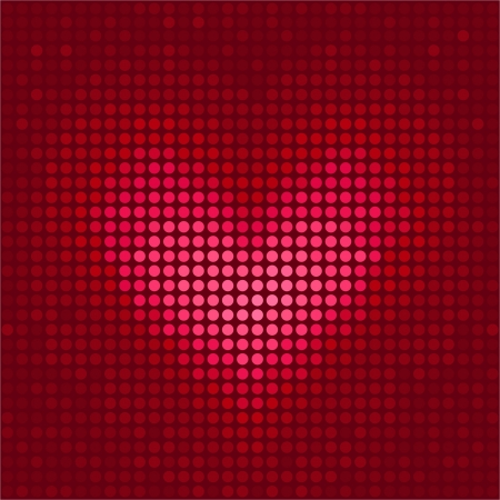 Pixel heart illustration for Valentine's Day Stock Vector - 17248714