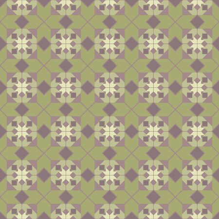 Seamless geometric pattern with green tiles Stock Vector - 17309714