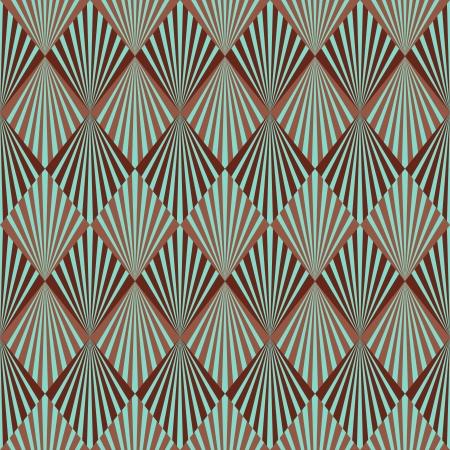 아르 데코 스타일 원활한 패턴 텍스처 일러스트