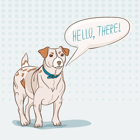jack russell: Jack Russell Terrier with speech bubble. Vector illustration Illustration